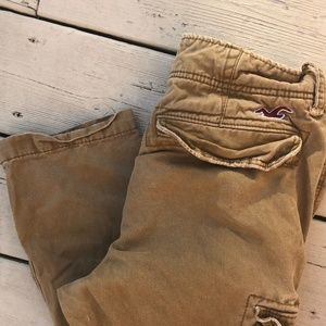 Hollister Mens Button Fly Cargo Pants, 28x30, EUC